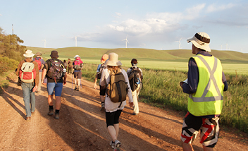 100 people. 328 km. 15 days.  1 solar thermal plant.
