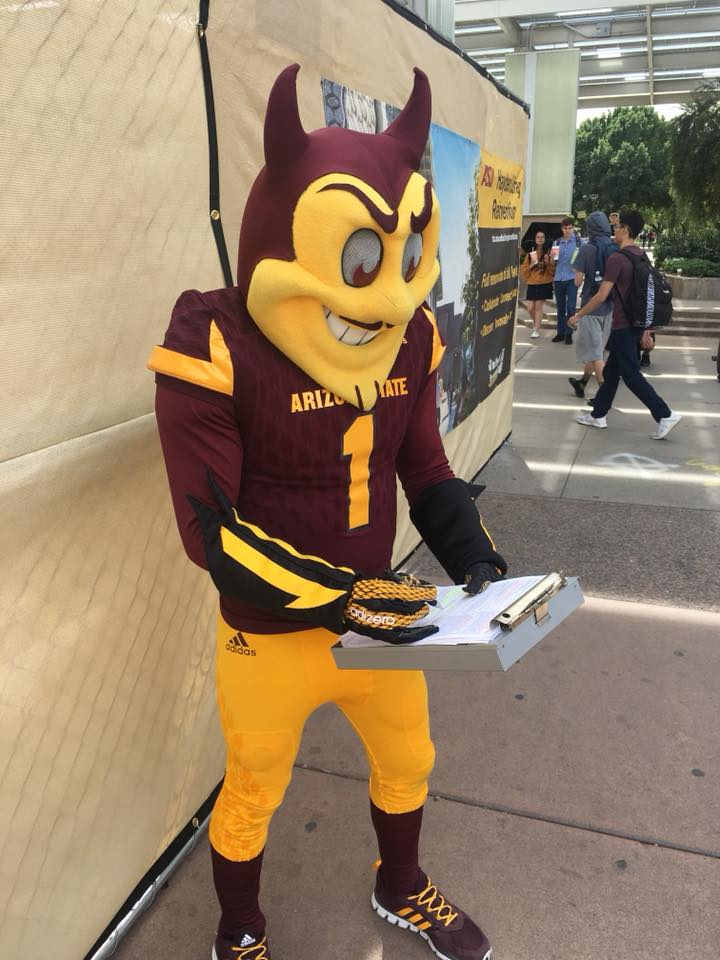 ASA registered Sparky to vote!