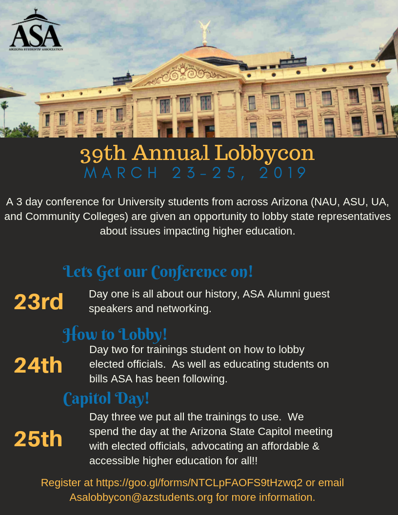 39th Annual LobbyCon - Arizona Students' Association