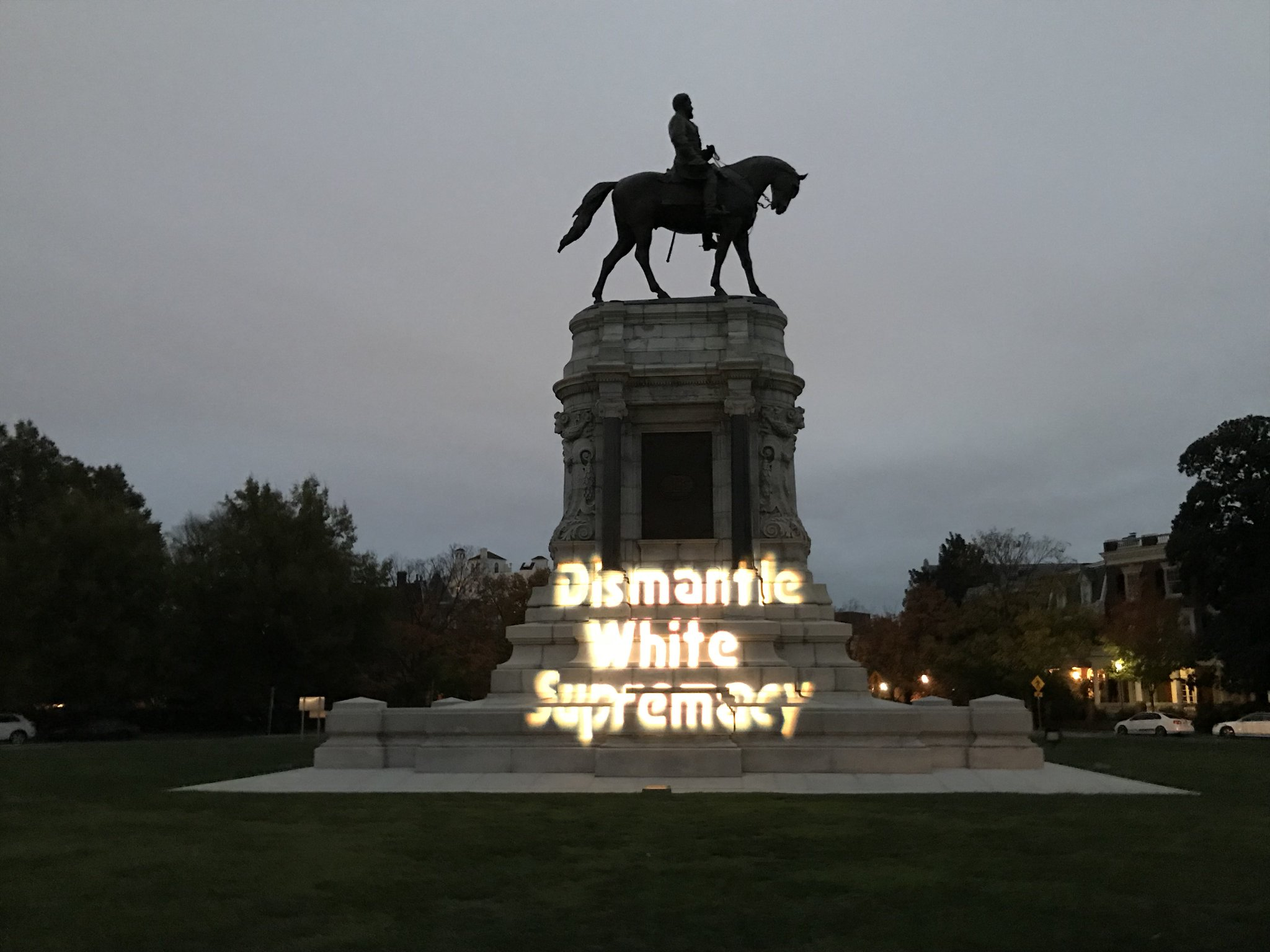 Maryland_Solidarity_Brigade_Projection_-_Dismantle_White_Supremacy_on_General_Lee_Statue_in_Richmond_VA_(Photos_curtesy_of_Richmond_DSA)_.jpeg