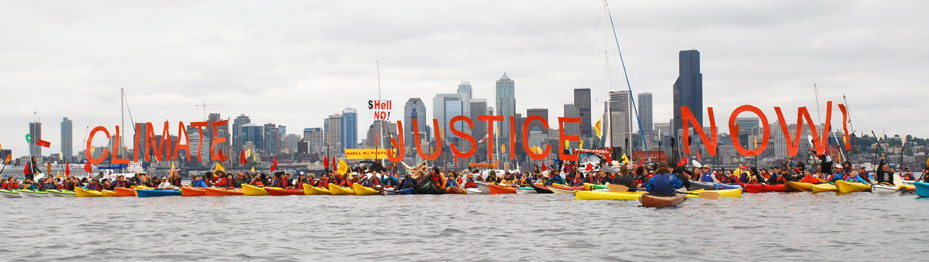 Climate Justice Now Kayaktivism