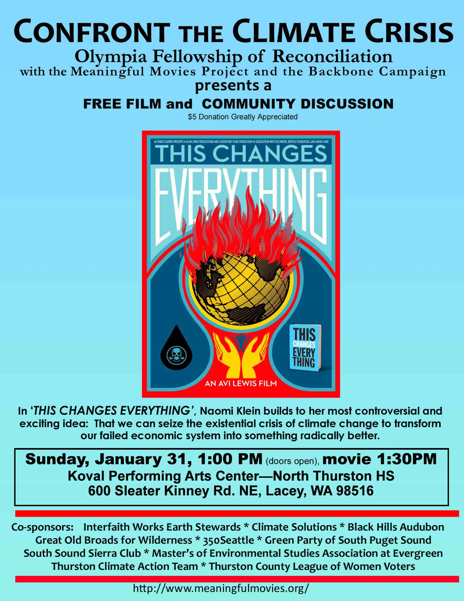 Olympia Screening of This Changes Everything