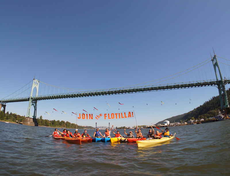 Join the Flotilla, come to Sunday's Kayaktivist Training to get ready for #BreakFree