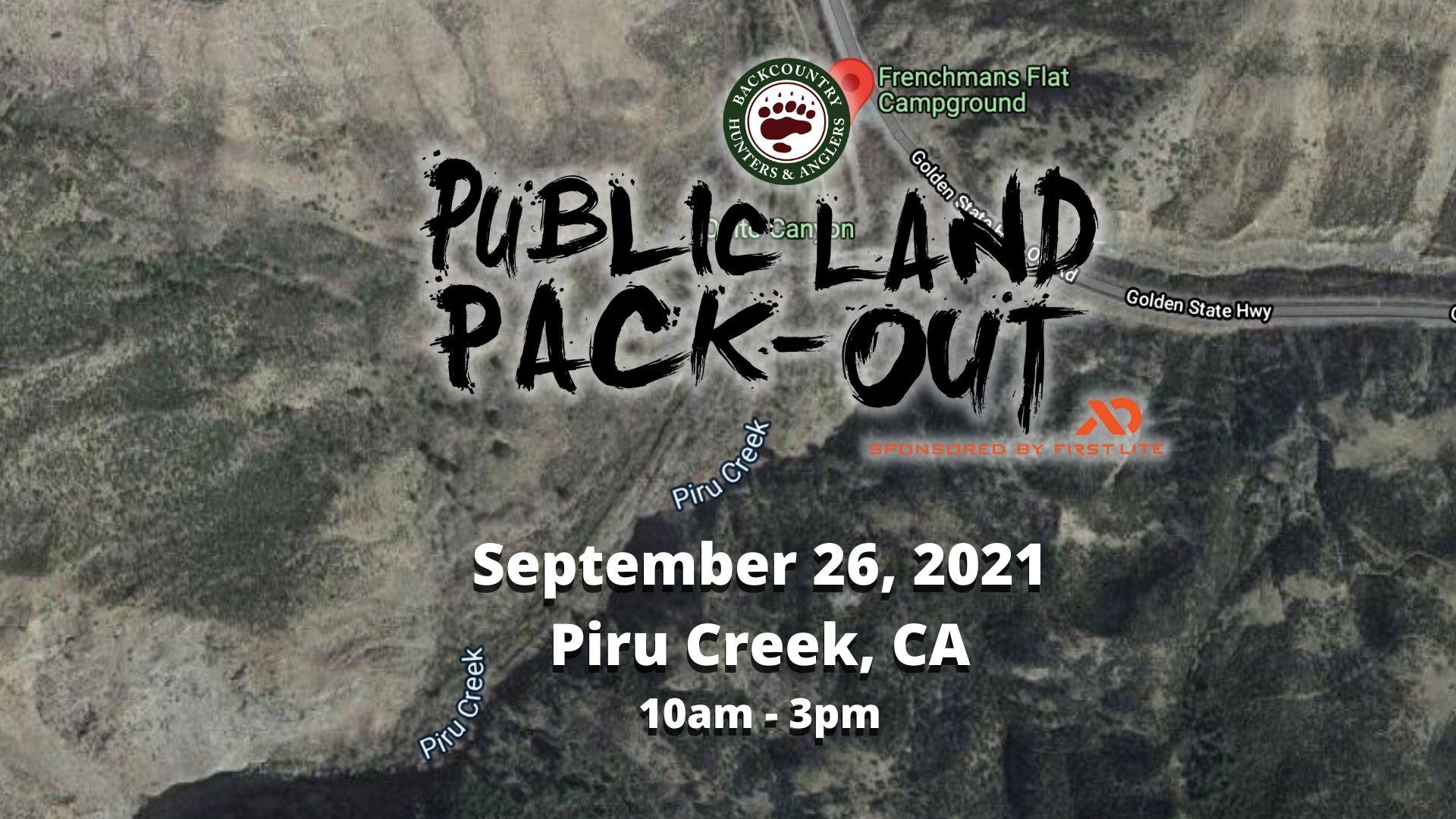 piru creek packout