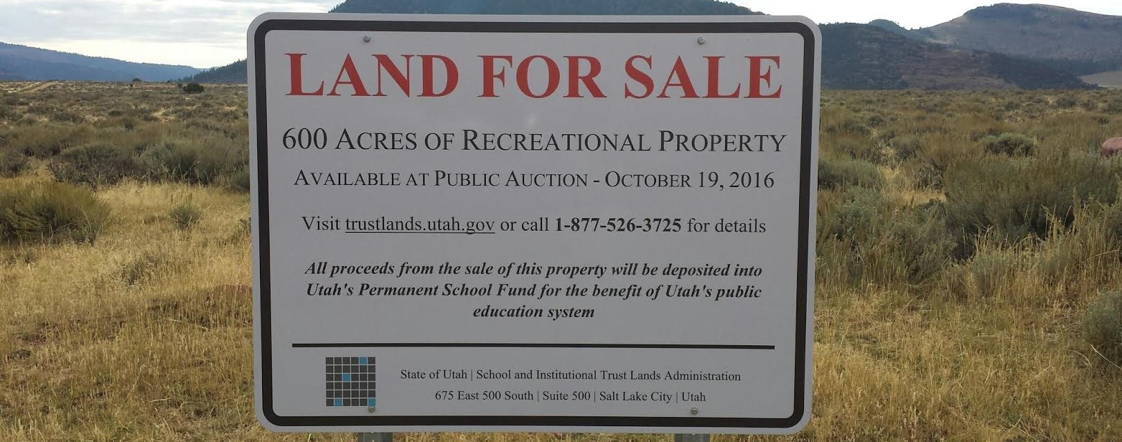 Sign the Petition: Stop the Sale of Utah State Lands