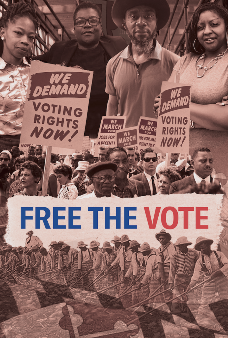 """Movie poster image for ACLU of Maryland's documentary """"Free the Vote"""""""