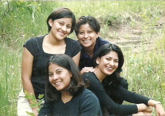 Julie Banuelos and her sisters (top right)