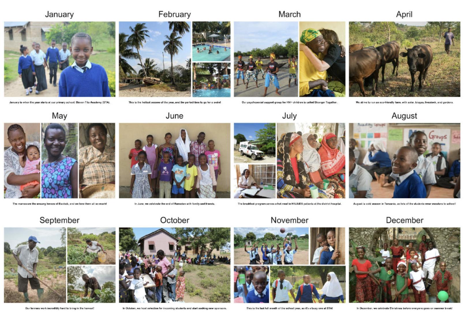 Baobab 2019 Calendar Preview