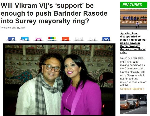 Vikram Vij Barinder Rasode Surrey