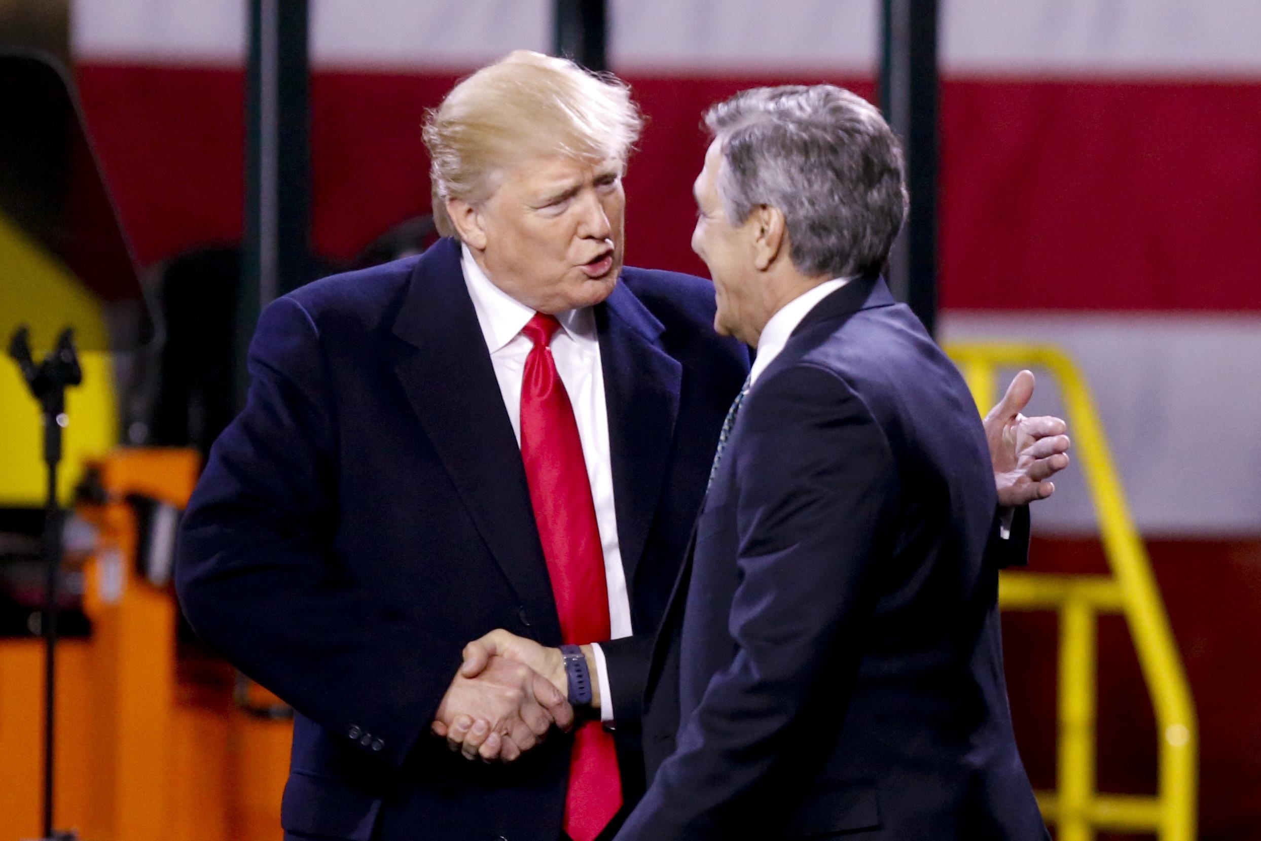 Rep. Lou Barletta and President Donald Trump