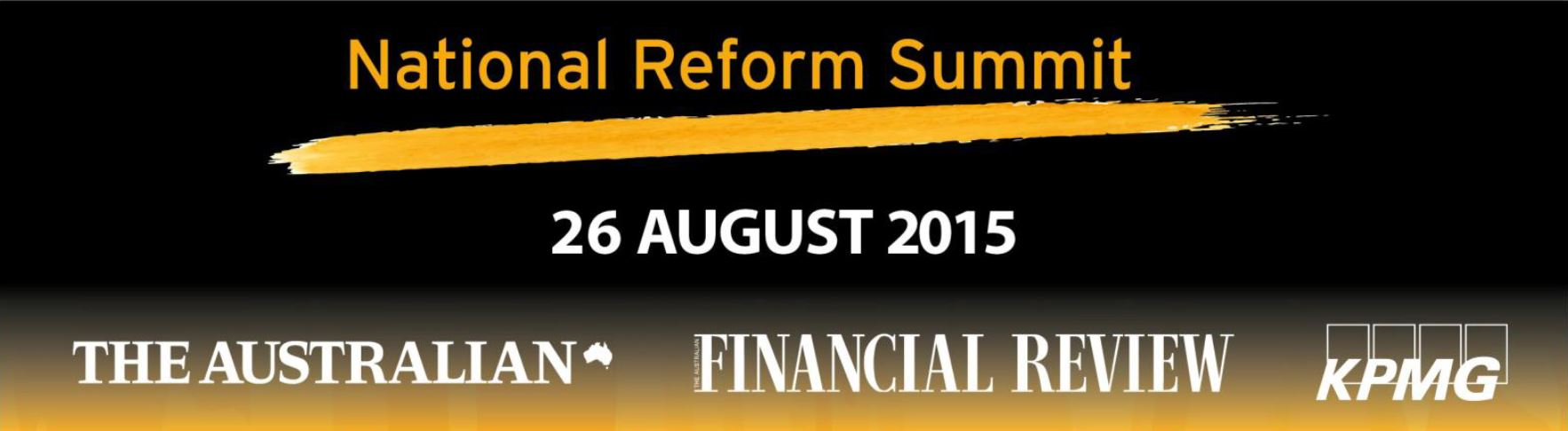 National Reform Summit 2015 Logos