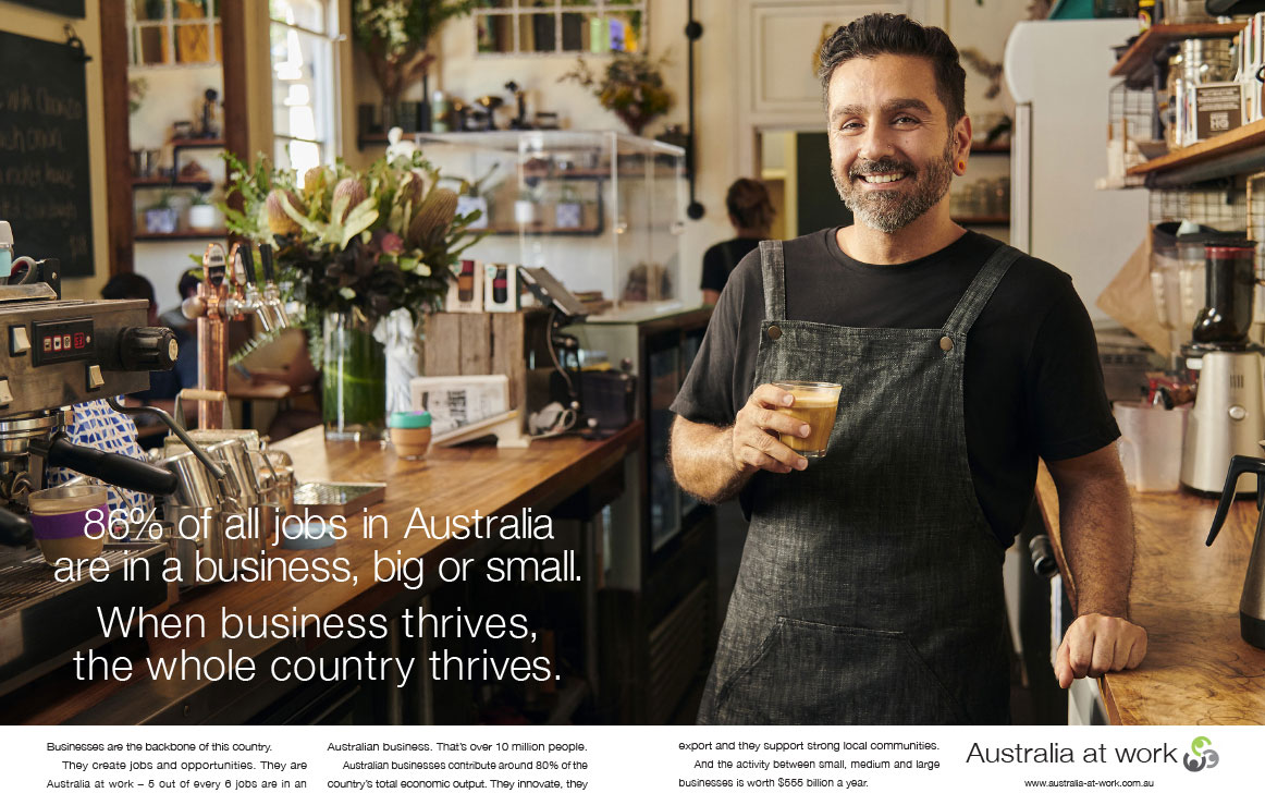 Australia at Work - big or small Meta Image
