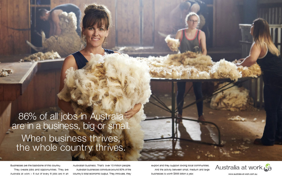 Australia at Work print advertisement Meta Image