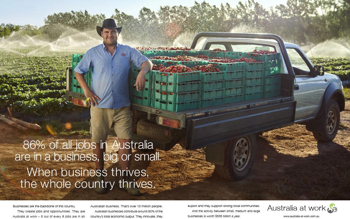 Australia at Work print ad Meta Image
