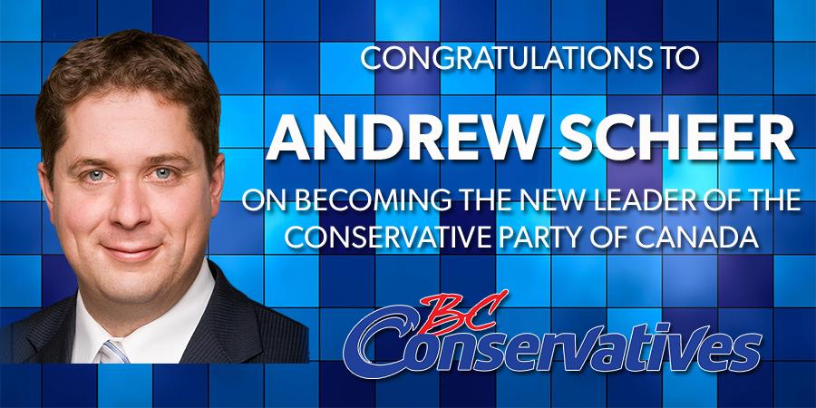 Congrats to Andrew Scheer