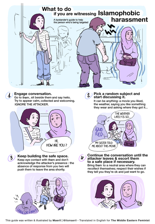Comic - What to do if you are witnessing Islamophobic harassment