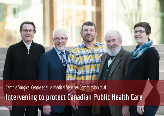 Intervenors protecting public health care