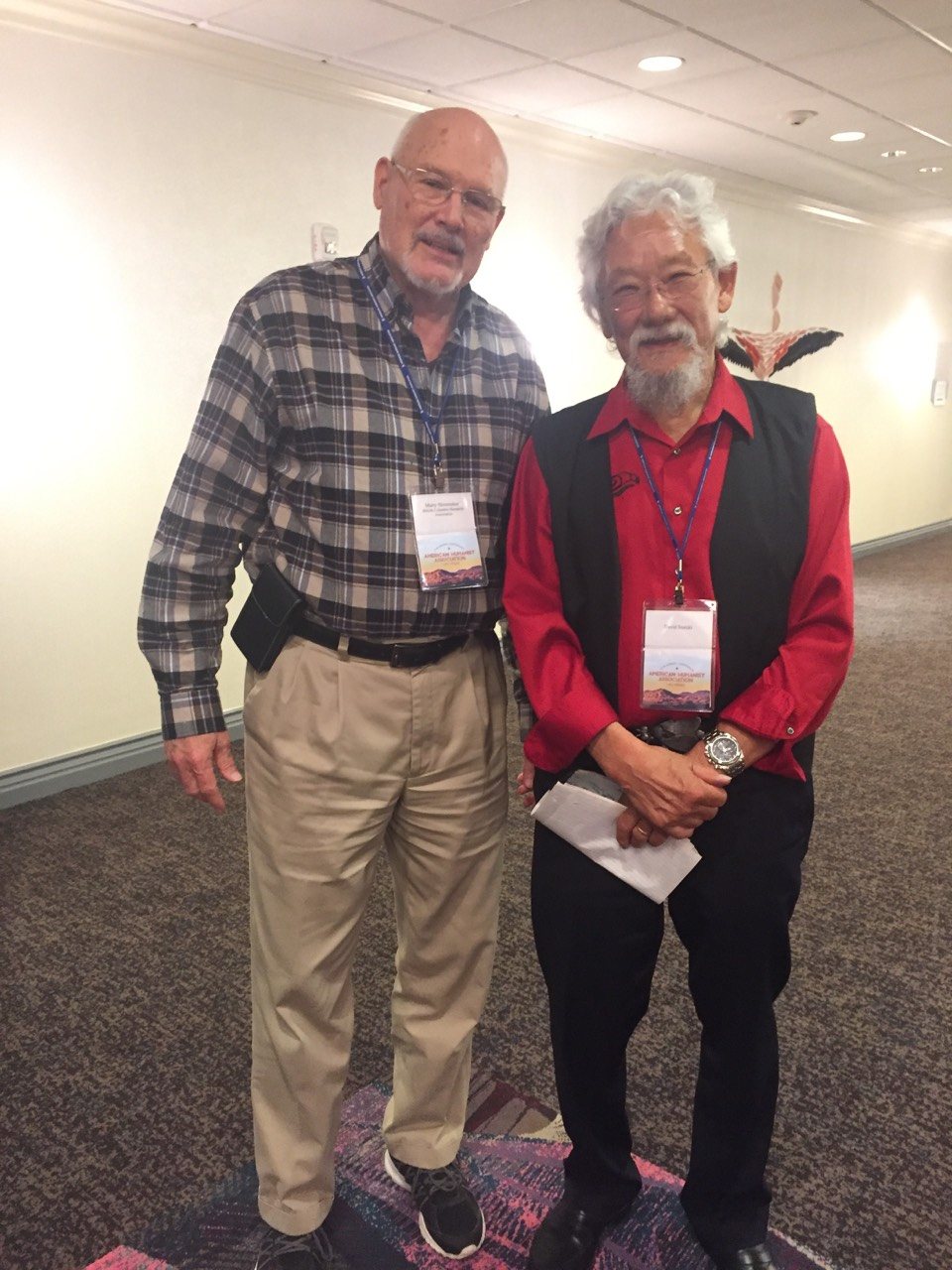 Marty with David Suzuki