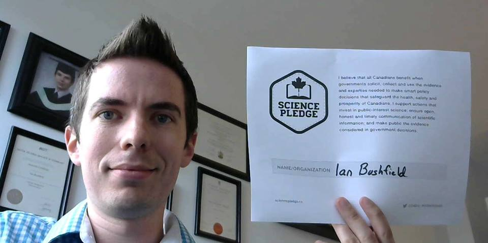Ian Bushfield Science Pledge