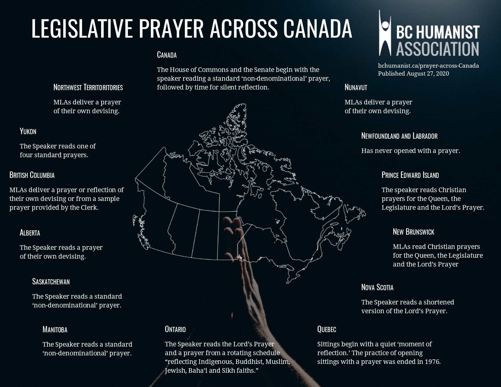 Legislative Prayer Across Canada