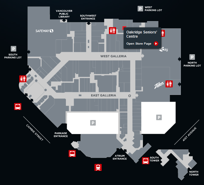 Map of Oakridge Centre