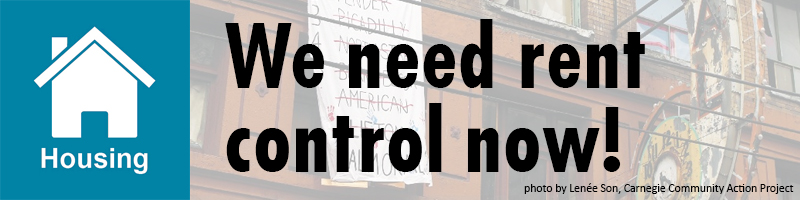We need rent control now!