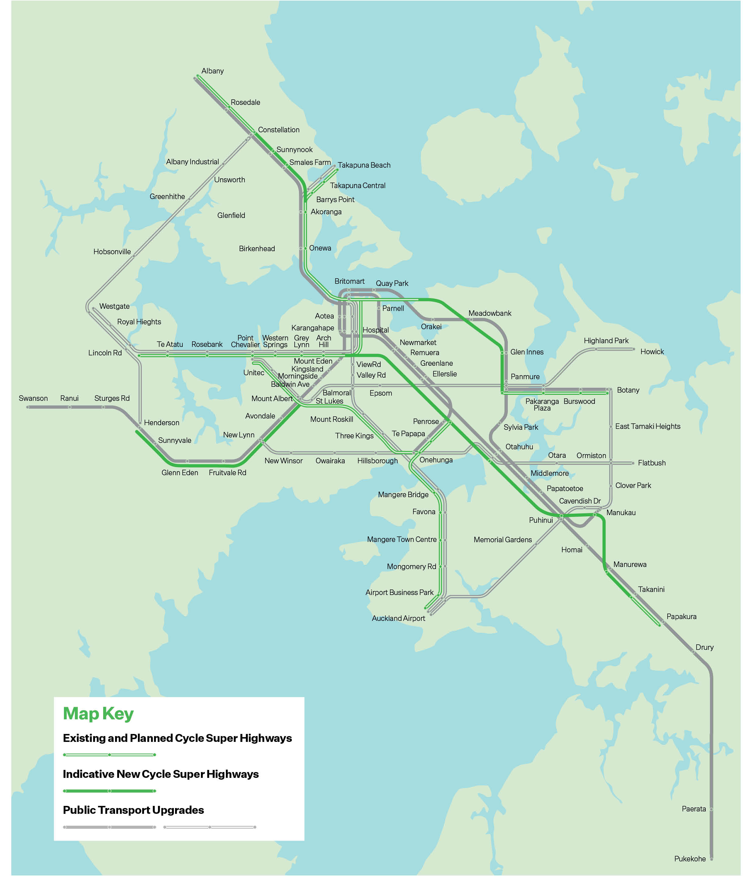 Auckland Transport Plan   Cycle Super Highways