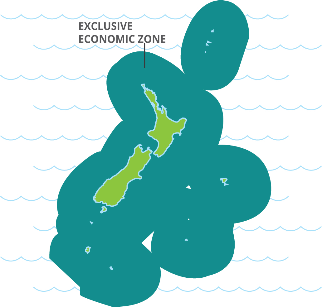New Zealand's Exclusive Economic Zone map