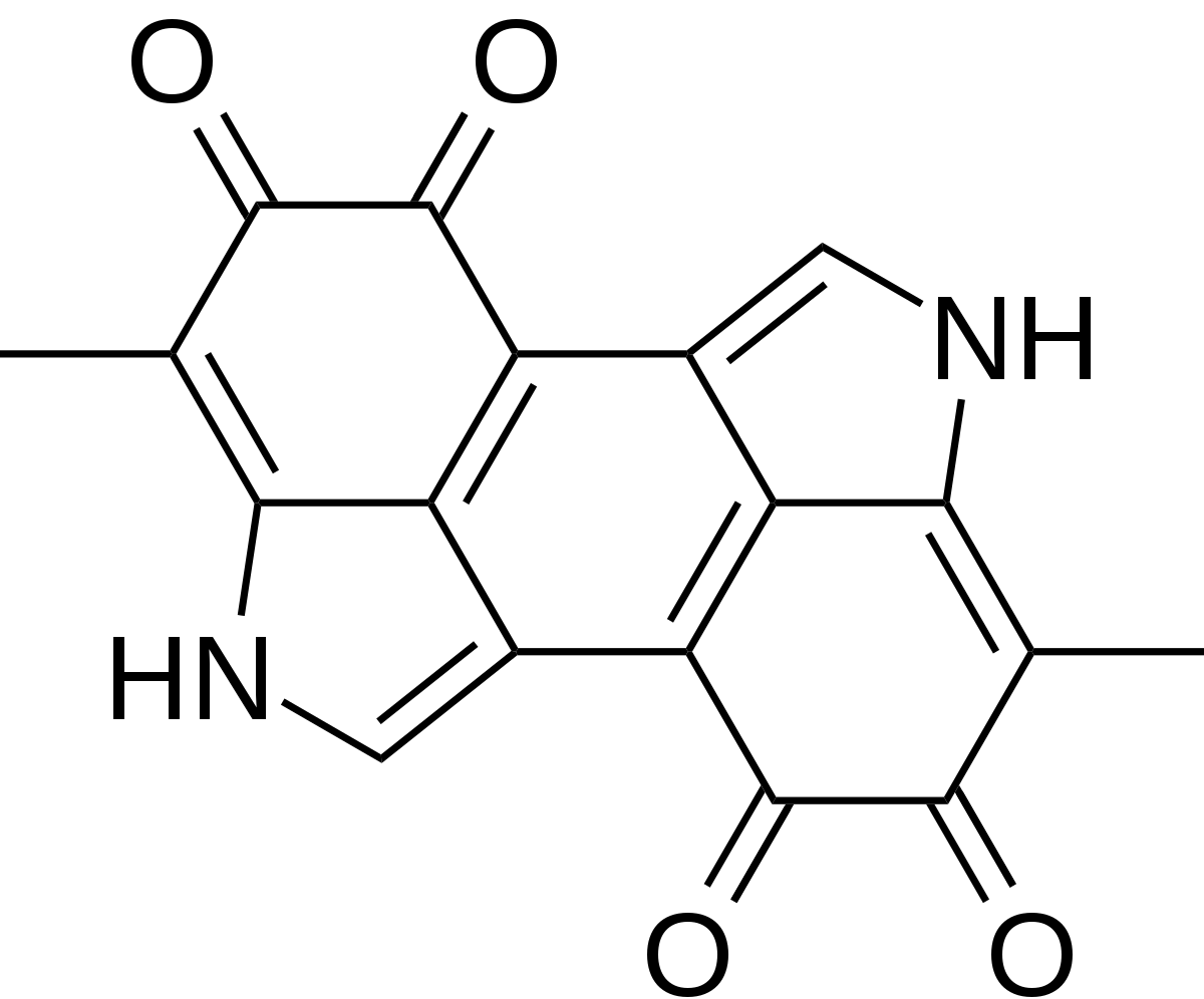 Melanin chemical structure