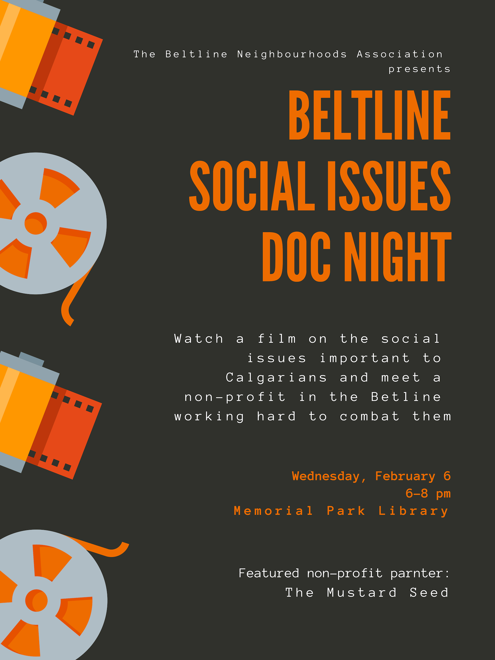 Beltline Social Issues Doc Night Beltline Neighbourhoods Association