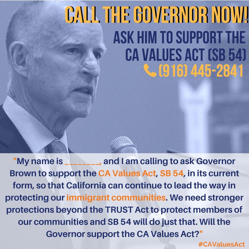 call Governor Brown poster