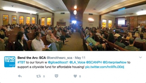 @bendthearc_sca: #TBT to our forum w @gilcedillocd1 @LA_Voice @SCANPH @EnterpriseNow to support a citywide fund for affordable housing!