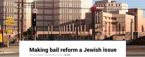screenshot of making bail reform a Jewish issue