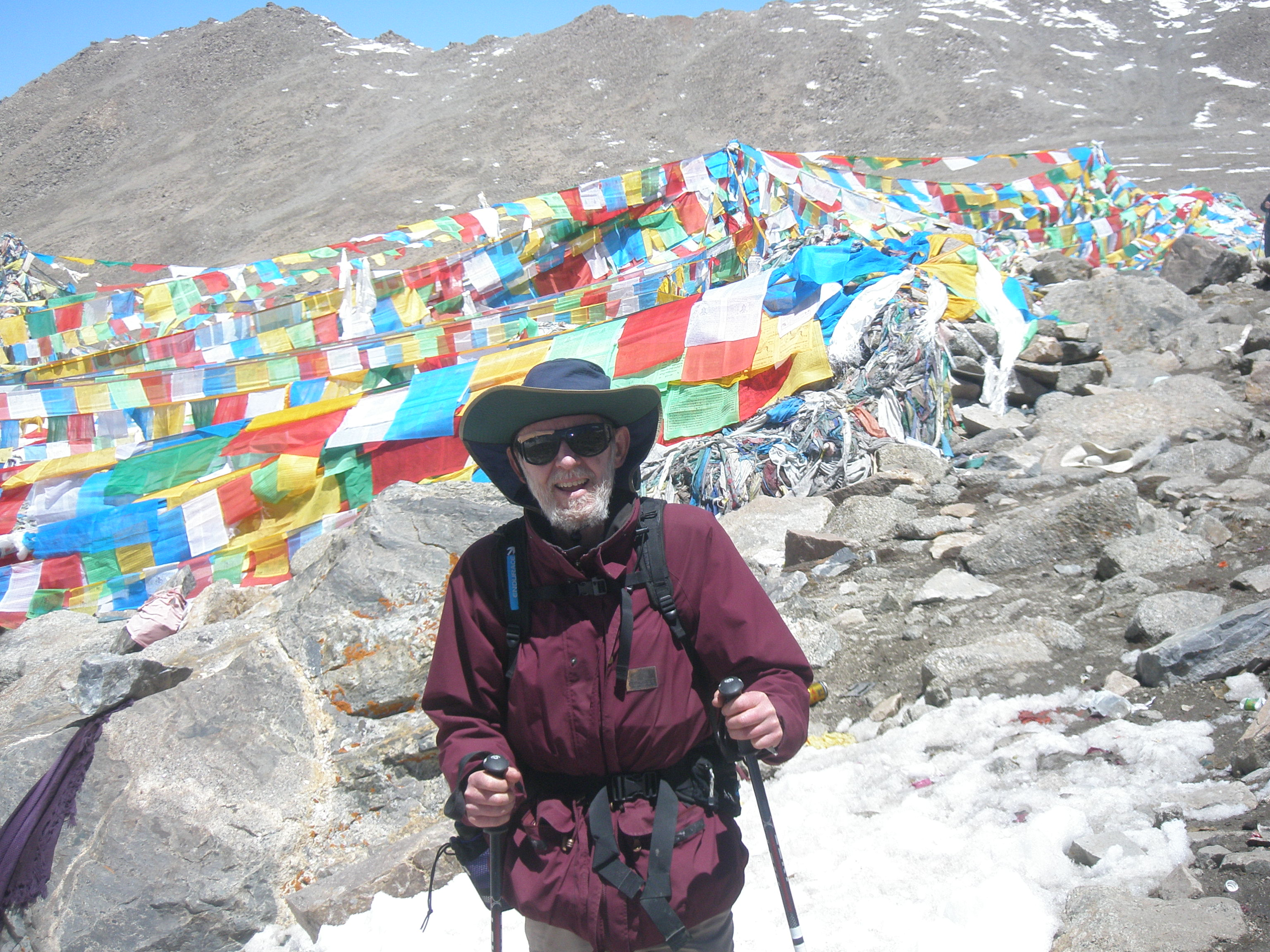 Dr Bill Metcalf hiking Mt Kailash in Tibet