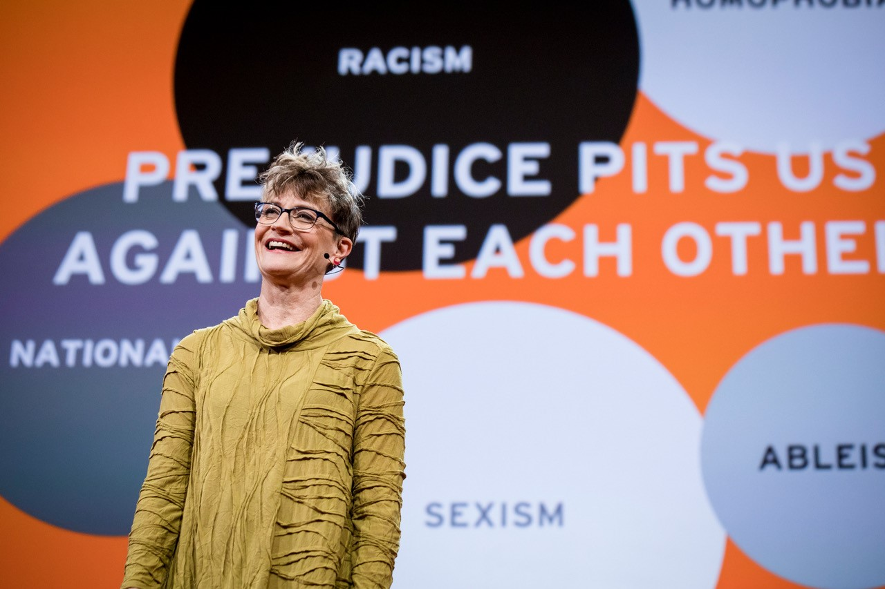 Ashton Applewhite received a standing ovation for her TED talk in 2017in