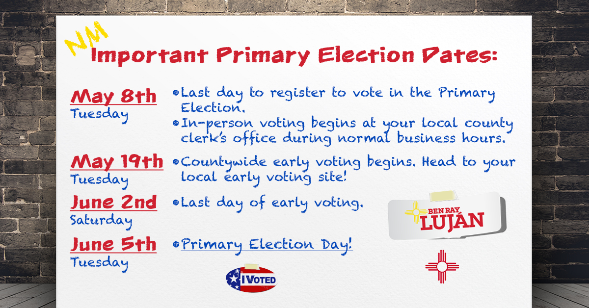 Important Primary Dates Graphic
