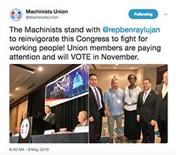 Machinists endorsement graphic