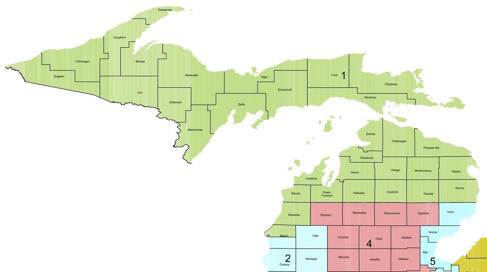Bergman For Congress - Us house of representatives district map michigan