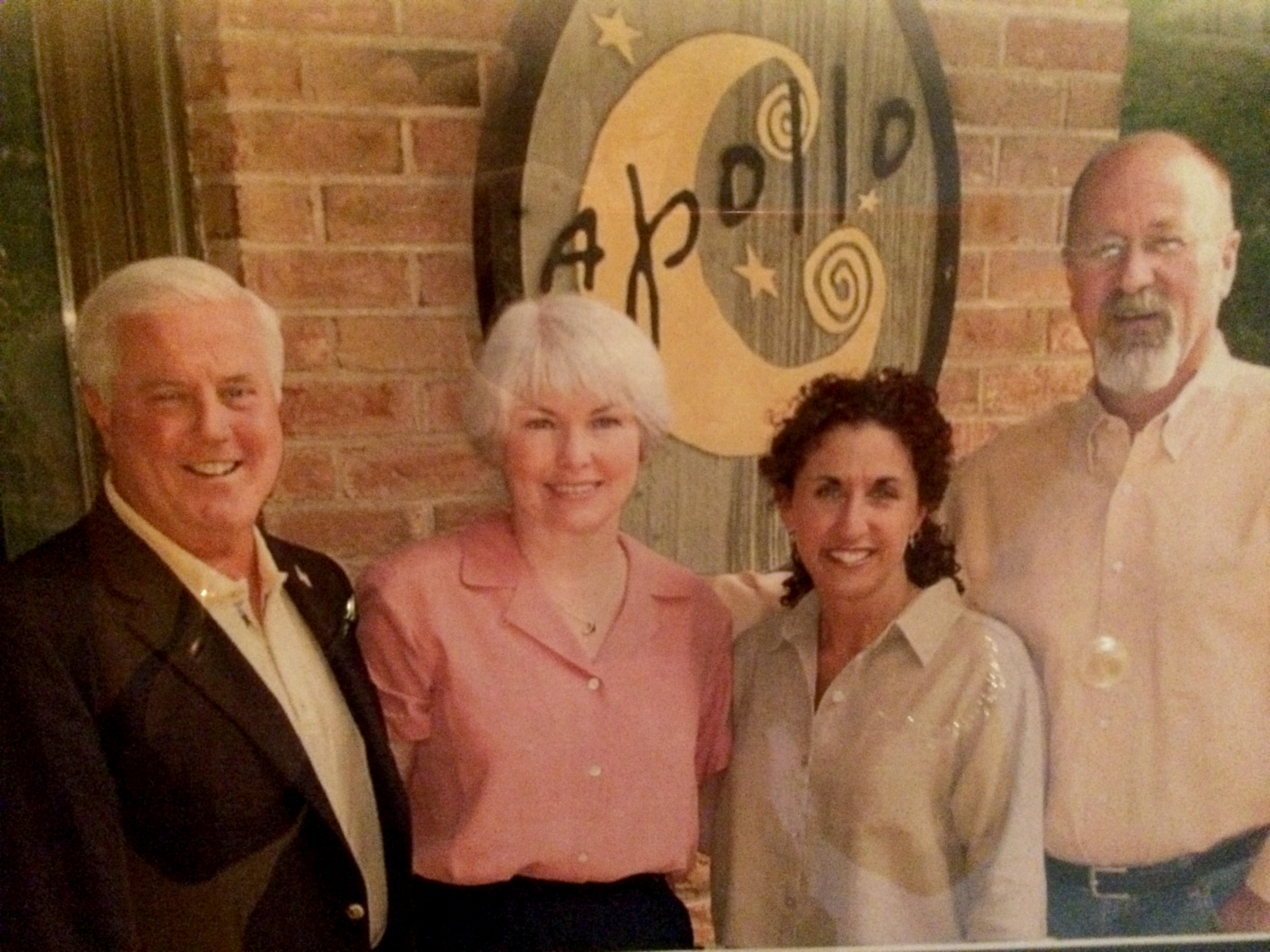 4 owners of the Apollo Grill: Tucker & Pat Lyons, Dyanne&Rod Holt
