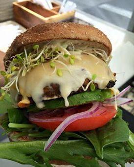 Just Veggn' Veggie Burger