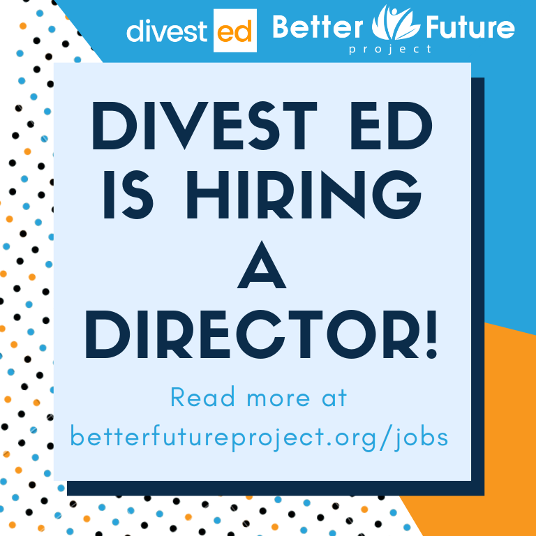 Divest Ed is hiring a Director