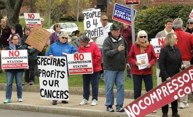 Weymouth Compressor Station Protestors
