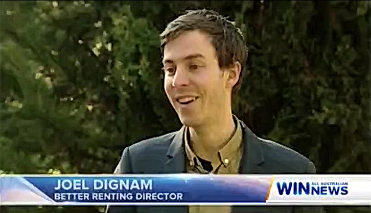 A screenshot from a TV story about Better Renting