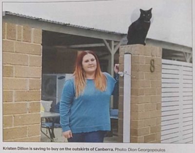 a photo of a renter from a canberra times story