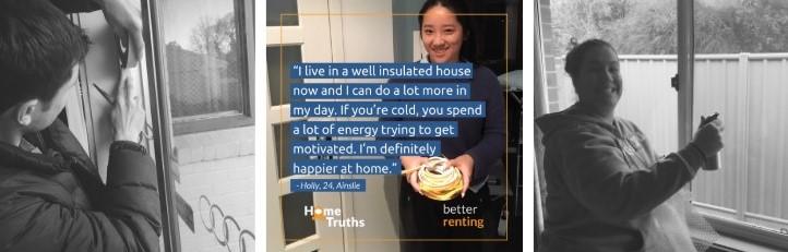Pictures of renters doing energy efficiency improvements