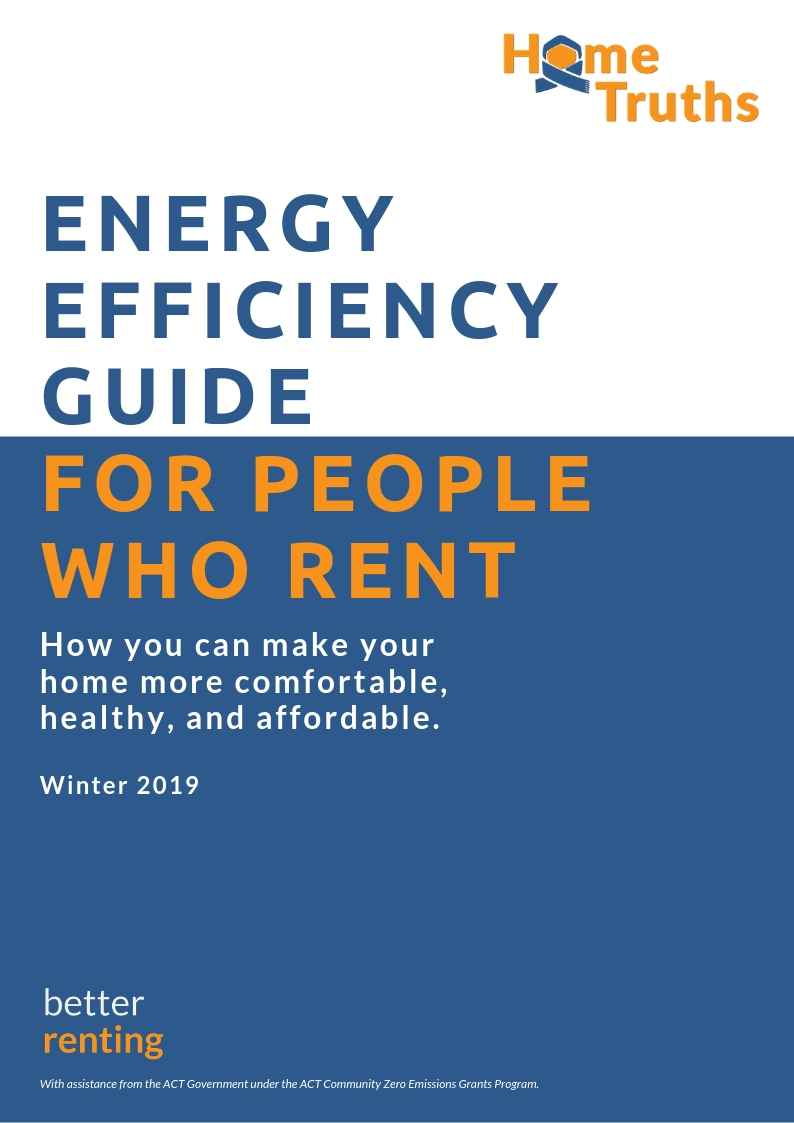 The cover page from the energy efficiency guide for renters