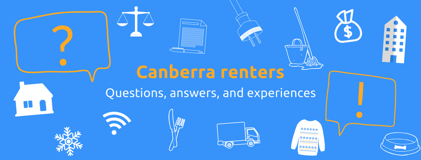 The cover image from the Canberra Renters facebook group