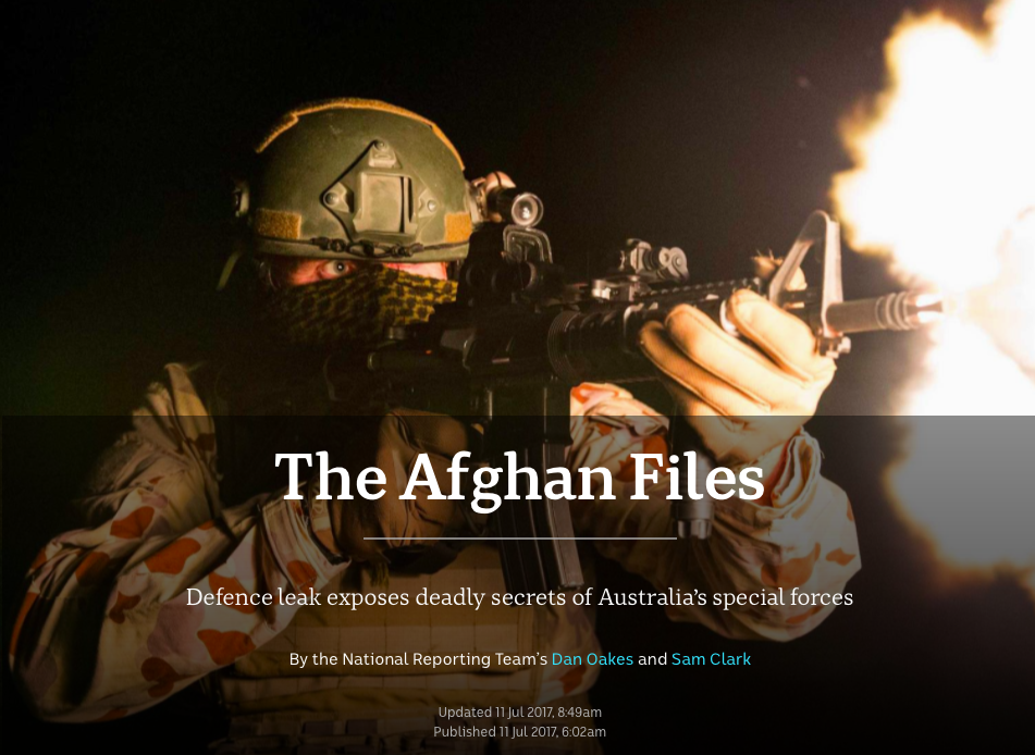 Afghan Files ABC Report