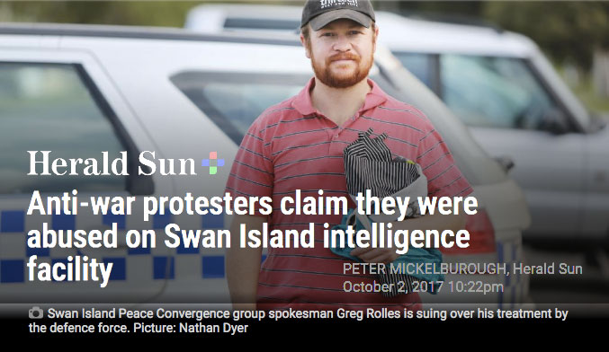 Herald Sun article protesters abused - greg