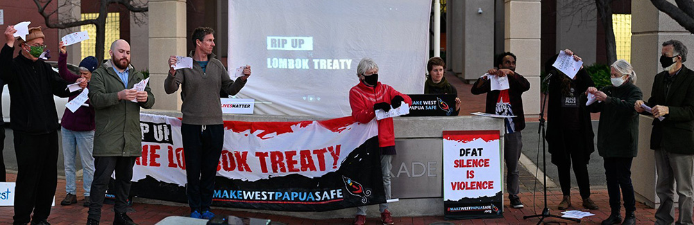 Ripping up the Lombok Treaty at Department of Foreign Affairs and Trade in Canberra